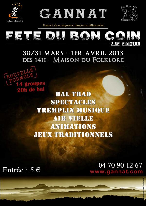 Fete Du Bon Coin 30 31 Mars Et 1er Avril à Gannat